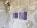 Boxes series | Acrylic based | Glazed with Magenta