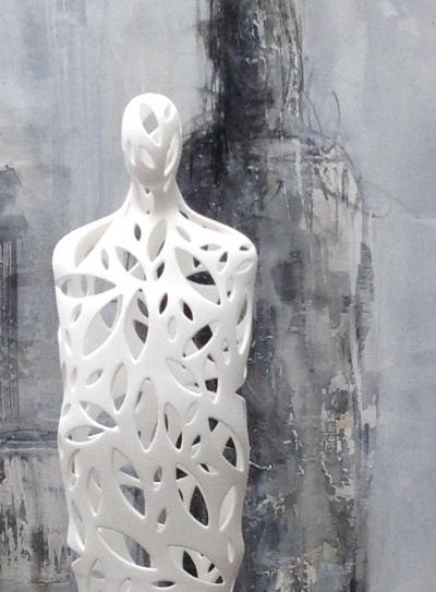 Barbara Houwers | CARE 3D print statue 160 cm | Barbara Houwers 2018