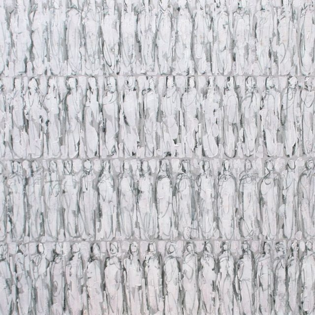 Barbara Houwers | Repetition figures | 60-60 cm | Acrylics on linen