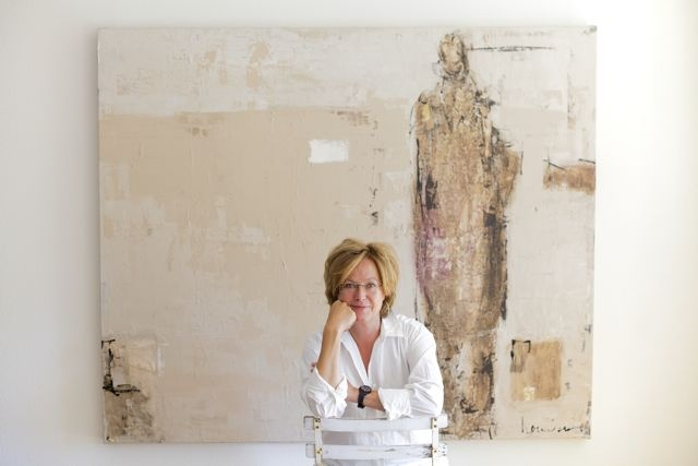 Barbara Houwers-Studio portret 2014 by Yvonne Verburg.