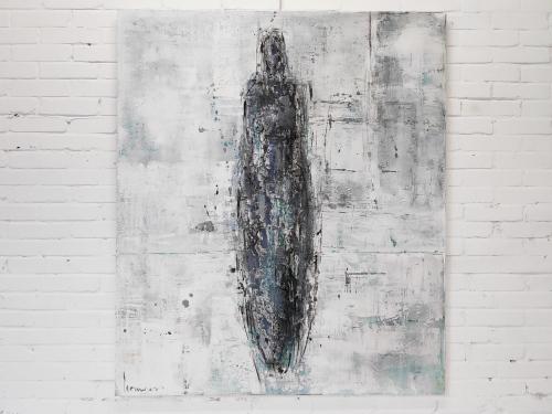 Studio Barbara Houwers | Gestalte in grijs | 120-140 cm | Acrylics on linen