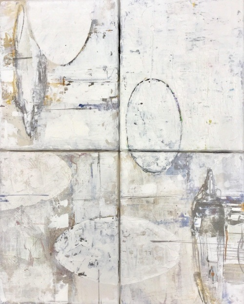 Barbara Houwers  | Transformation-48-60-cm on linen | Acrylics on linen