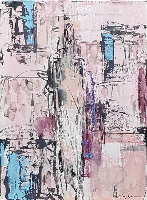Barbara Houwers | Windows | 30-40 cm  | Acrylics on canvas .