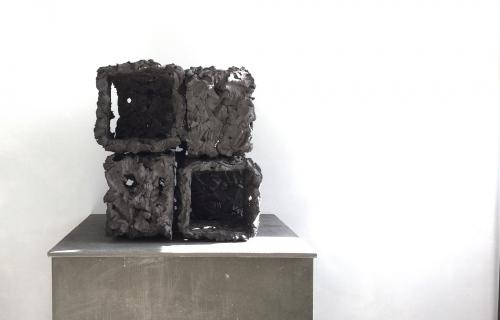 Keramisch object | 8 blokken | Ongeglazuurd | Barbara Houwers 2020