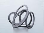 Ovalen Hout-assemblage - 60-70 cm Barbara Houwers