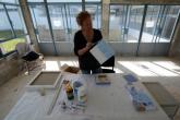 2015. Barbara Houwers- Duiker blauw 2   Art Zonnestraal   Foto- Herman van Doorn