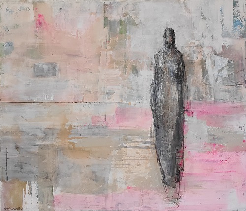 Statue for a girl | Acrylics on linen | Barbara Houwers-2021