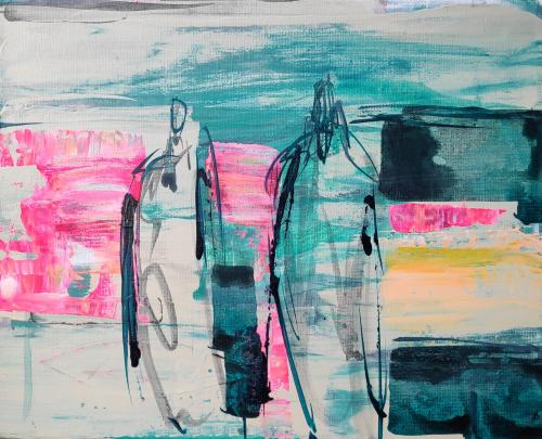 Serie Stroming | Acryl op canvas | 3-24 cm |  Barbara Houwers 2020.