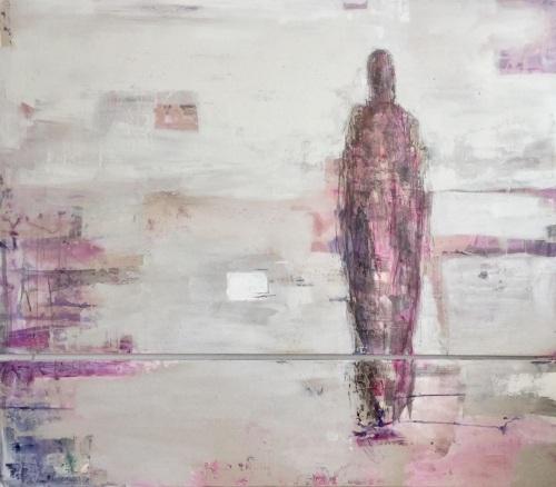 Horizon- 2  Panelled | Acrylics on linen | 200-190cm | Barbara Houwers