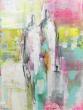 Blush 1 | 30 -40  cm  | Acryl op doek  | Barbara Houwers