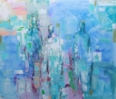 Shades of Blue | 120-140 cm | Acrylics on linen | Barbara Houwers