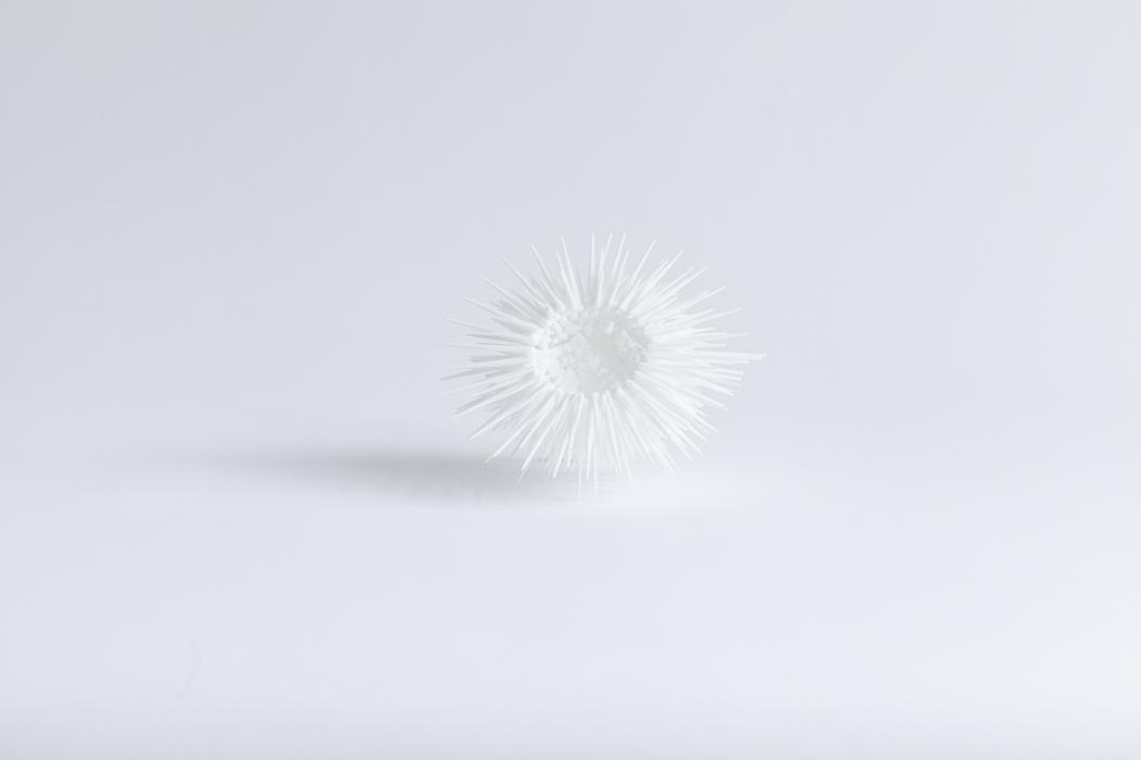 2017 | Furry White | 12 cm | 3D-print Design | Barbara Houwers