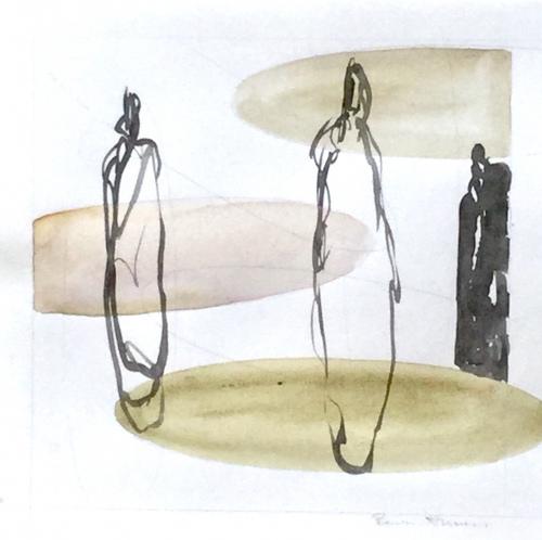 WOP 7 | Mixed media on paper | app 21 - 21 cm | Barbara Houwers 2021
