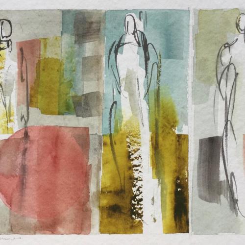 WOP 12. Aquarel. 16-23 cm. Barbara Houwers