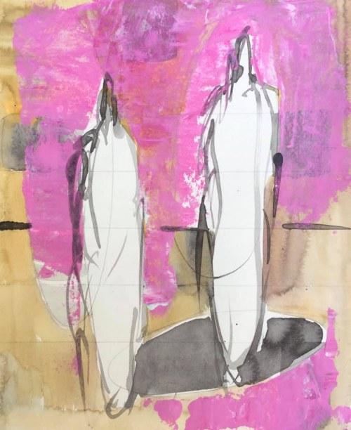 WOP 4 | Mixed media on paper | 24-20 cm | Barbara Houwers 2021
