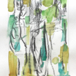 WOP 16. Aquarel en krijt.  18-12 cm. Barbara Houwers