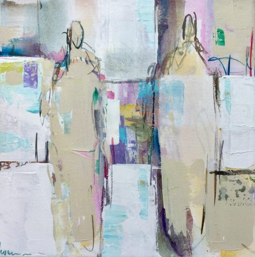 Frame - Acrylics on linenn - 30-30 cm - Barbara Houwers