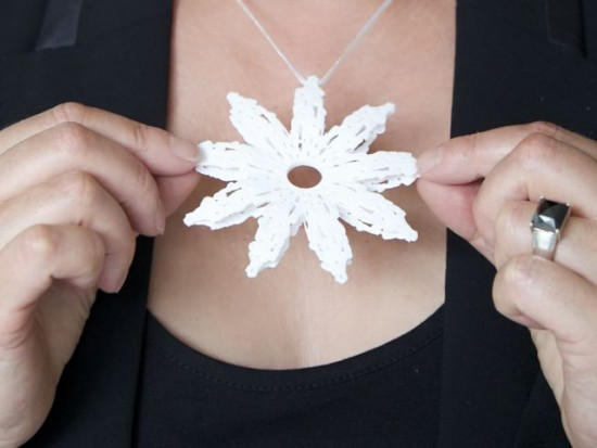 Barbara Houwers-White Flower 3D Print