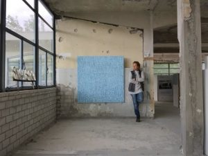 Duiker Blauw. Barbara Houwers 140-140 cm